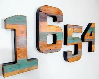 """Reclaimed Wood Look - 8"""" Numbers & Letters - Custom"""
