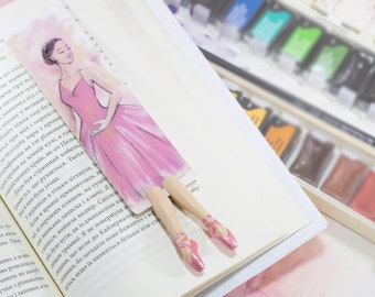 New Ballerina bookmark. Ballerina in pointe unusual gift for dancer, her, mom, women, teen girl, teacher, coworker, student, child, sister