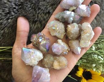Angel aura Spirit quartz, spirit quartz, cactus quartz , fairy quartz