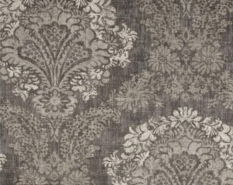 Hamilton Grey, Magnolia Home Fashions - Cotton Upholstery Fabric By The Yard