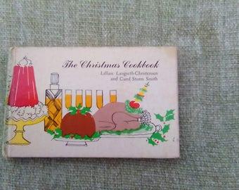 Vintage 1960s Hardback Postcard Cookbook The Christmas Cookbook 1967 New York