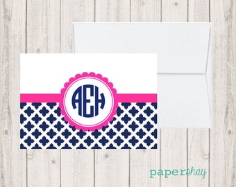 Personalized Stationery, Personalized stationary,  Monogram stationery, Monogram Note Cards, Personalized Notecards, Fold over Note Cards