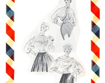 Vintage Sewing Pattern in any size including plus size 1949 PDF Instant Download Pattern no 42+43+44