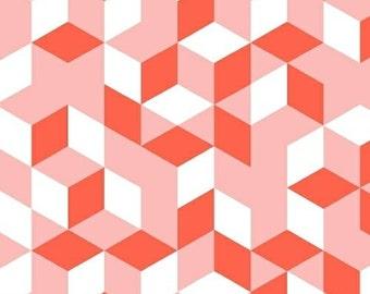 Pink Cubes Maribel Annabel Wrigley Windham Fabrics 41765-4 - You choose the Length