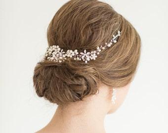 Wedding Hair Vine,  Bridal Headpiece, Pearl Wedding Hairpiece, Bridal Hair Accessory