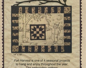 Fall Harvest - Stitchery/quilt pattern by Kathy Schmitz - SALE!!