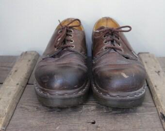 Vintage Men's Brown Dr. Martens Doc Martens Leather Shoe Men's Size 8 Made in England