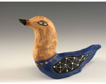 Large Sculpted Ceramic Bird by Jenny Mendes - Jessie