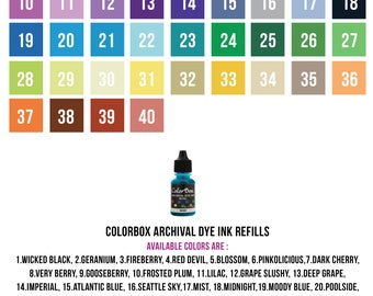 ColorBox Archival Dye Ink Refills
