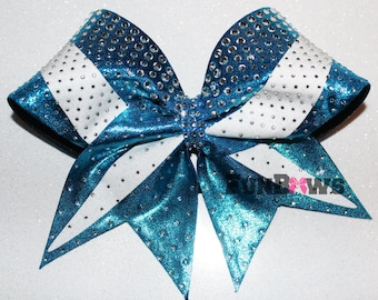 Beautiful  Covered Rhinestone and Swoop  Cheer Bow  by FunBows !