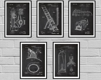 Firefighter Patents, Firefighter Poster, Firefighter Art, Firefighter Decor, Firefighter Wall Art, Gift, Firefighter gift, sp429