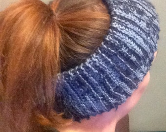 3-Way Knit Earwarmer, Hat, and Neck Cowl