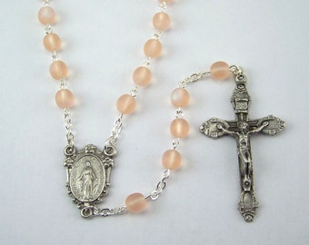 Pink Miraculous Medal Rosary (35)