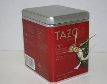Tazo Joy Tea Tin Clock