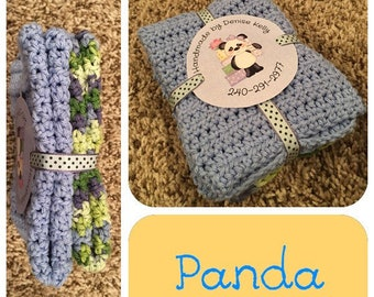 Crocheted Dishcloths-Panda