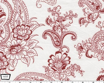 SALE - Prestine Paisley - Red from Michael Miller