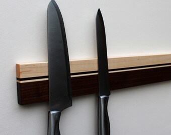 Knife Rack, Magnetic Knife Rack, Knife Holder, Wood Knife Holder