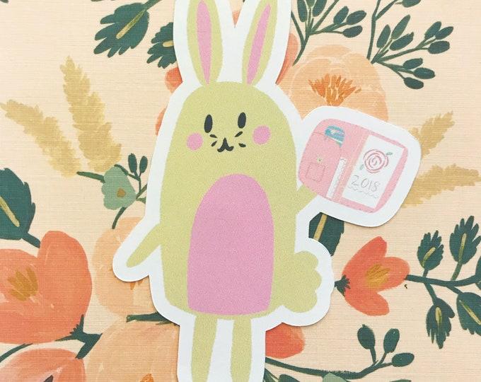 Planner Bunny Die Cut