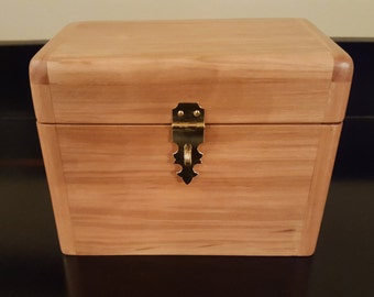 Playing Card Storage Box, Chilean Cherry for Hand & Foot (+ Elbow) game