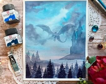 8x10 CUSTOM Original watercolor painting