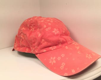 Pastel Red Allover Flower Print with Tie-Back