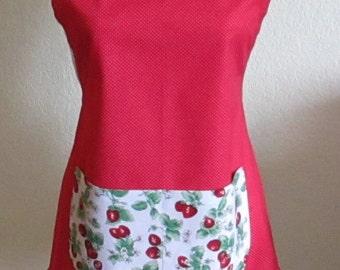 Strawberry Ruffle Apron