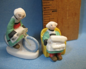 BECASSINE Breton Housemaid Comic - French Feve Feves Figurines Miniatures V40