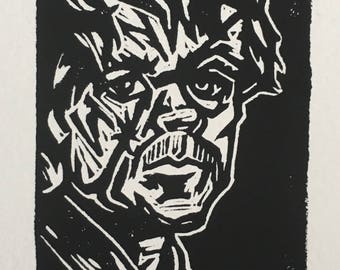 The Dwarf (Game of Thrones) Linocut Print