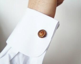 Acorn Cufflinks for Him or for Her - Groom Cufflinks - Wedding Cufflinks - Gift for Him - Father's Day Gift