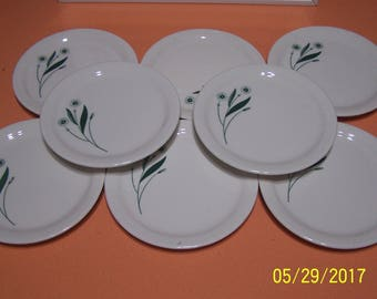 Homer Laughlin Field Flower Side Plates ( set of 8 )