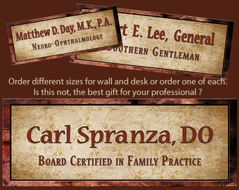 Office Name Plate Sign For the Professional, Graduate, Doctor, Lawyer, CEO. The Perfect Gift to Say Thank you. Free shipping