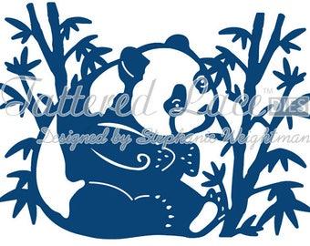 Tattered Lace Die - Oriental Panda