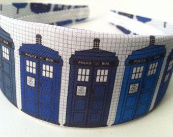 Blue Police Box Headband, Doctor Who Geekery