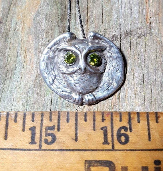 Owl Pendant Necklace  Wise Old Owl
