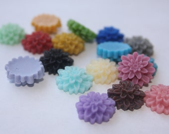 24 MEDIUM MUM Cabochons - 16mm - CHOOSE your Colors