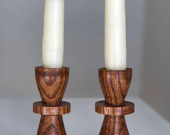 Wooden Danish Candlesticks