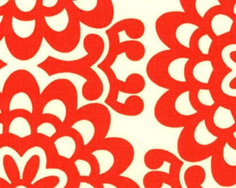 Amy Butler FABRIC - Lotus - Wall Flower in Cherry