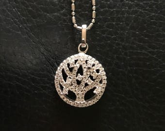 Sparkling Silver Tree of Life Necklace