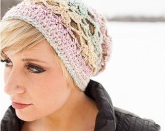 Crocheted Butterfly Breeze Slouchy Hat