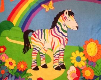 Rainbow Zebra Quilt