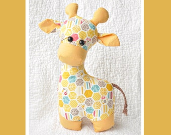 Gerald the Giraffe Sewing Pattern  | Softie Pattern | Stuffed Animal | Children's Toy