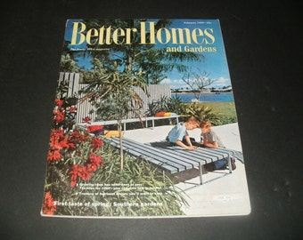 Vintage Better Homes and Gardens Magazines February 1960 - Retro,Scrapbooking,Vintage Ads