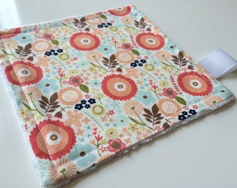Baby comforter - Baby minky lovey - Toddler lovey - Floral baby girl lovey - Flowers baby girl comforter - Pretty comforter - New baby gift