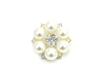 "Pearl Rhinestone Buttons 25 mm ""Florentine"" - Pearl Buttons, Pearl Buttons for Sewing, Pearl Buttons Bulk, Pearl Buttons Sewing, Button Lot"