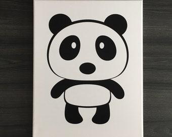 Custom Nursery Panda Art - Panda Bear, Nursery Decor, Wall Decor, Wall Art, Baby Shower Gift, Bear Art, Bear Decor, Panda Art, Panda Decor