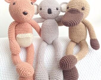 Amigurumi Pattern Collection: Three Australian Friends