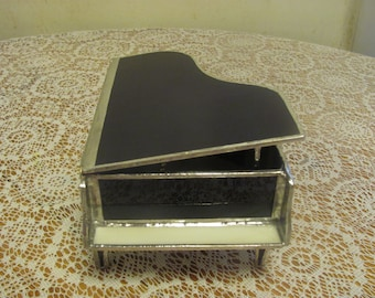 Stained glass piano box