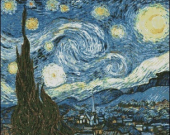 Vincent Van Gogh THE STARRY NIGHT cross stitch pattern No.501