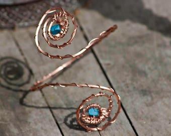 Copper arm cuff