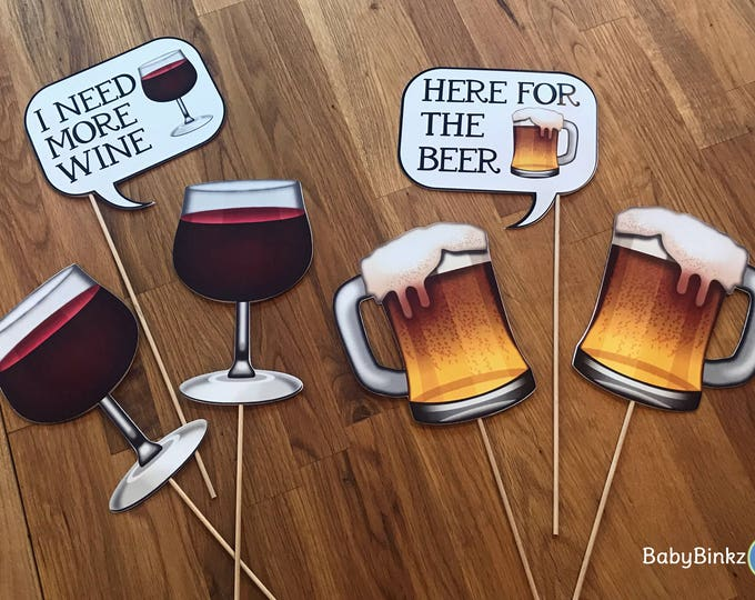 Photo Props: The Emoji Cocktail Speech Bubble Set (6 Pieces) - party wedding birthday social media iPhone app icon emoji beer wine